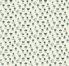 Free Seamless Web Icons And Simbols Pattern Stock Photo - 35317180
