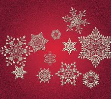 Free Abstract 3D Snowflakes Design Stock Images - 35317304