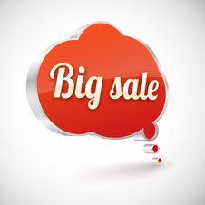 Big Sale Vector Icon, Illustration Royalty Free Stock Photos