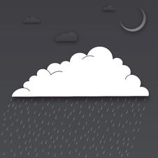 Free Clouds Cut Out Of Paper In The Night Royalty Free Stock Image - 35317416