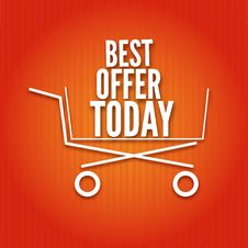 Shopping Cart On A Bright Background Stock Images