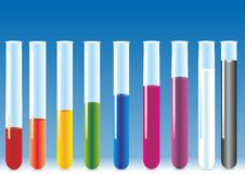 Free Vector Test Tubes With Liquid. Royalty Free Stock Photography - 35319427