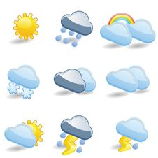 Free Weather Icon Set Royalty Free Stock Photos - 35319898