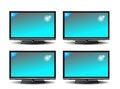 Free Set Of Plasma TV Royalty Free Stock Photos - 35320578