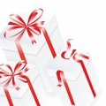 Free White Gift Box. 3D Image. Vector. Royalty Free Stock Photos - 35322808