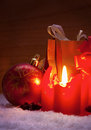Free Advent Candle. Royalty Free Stock Photo - 35326845
