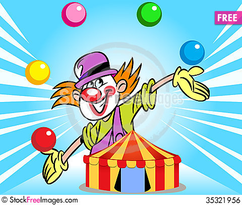 Clown from the circus tent  sc 1 st  Stock Free Images & Clown From The Circus Tent - Free Stock Images u0026 Photos - 35321956 ...