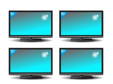 Free Set Of Plasma TV Royalty Free Stock Photos - 35320578