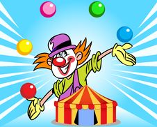 Free Clown From The Circus Tent Royalty Free Stock Image - 35321956