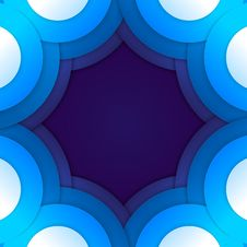 Free Abstract Blue Paper Circles Background Stock Image - 35323421