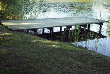 Free Bridge Over Reeds Stock Photography - 35323772