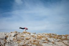 Free Young Tourist In Beautiful Tatry Mountains Royalty Free Stock Photography - 35327097