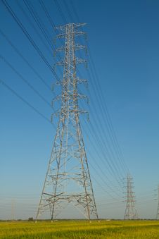 Free High Voltage Tower Royalty Free Stock Photos - 35329278