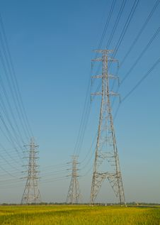 Free High Voltage Tower Stock Image - 35329281