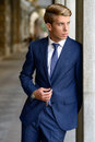 Free Attractive Young Businessman In Urban Background Royalty Free Stock Images - 35337829