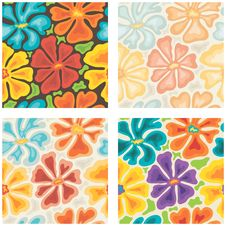 Free Seamless Colored Floral Patterns Royalty Free Stock Photos - 35330878