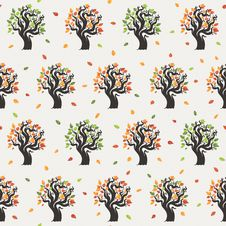 Free Seamless Tree Pattern With Forest Royalty Free Stock Photos - 35331228