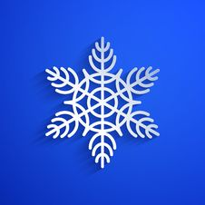 Free Vector Background With Snowflake. Eps10 Stock Photo - 35331420