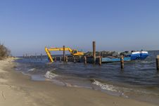 Free Dredging The River Royalty Free Stock Image - 35334796