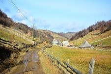 Free Country Road With Mud In Autumn Stock Images - 35335024
