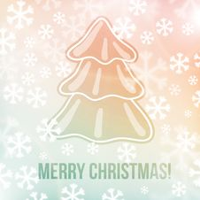 Free Christmas Background, Snowflakes And Soft Colors Royalty Free Stock Photo - 35335295