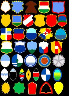Free Heraldic Album. Shields. &x28;Vector&x29;  Page 4 Royalty Free Stock Photography - 35337507