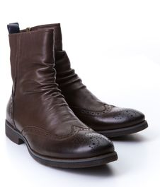 Free Brown Roper Boots Royalty Free Stock Photography - 35338557