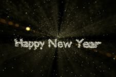 Free Outer Space Happy New Year Stock Image - 35339401