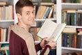 Free Enjoying His Favorite Book. Royalty Free Stock Images - 35346949