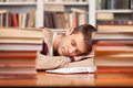 Free Sleeping At The Library. Stock Photo - 35347010