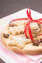 Free Christmas Gingerbread Cookies On Wooden Board Stock Photos - 35348183