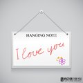 Free Hanging Note Board Stock Image - 35348551