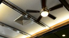 Ceiling Fan In Diner Restaurant Royalty Free Stock Images