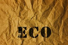 Free Recycled Paper With Eco Text Royalty Free Stock Photo - 35340775