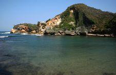 Free Ngrenehan Beautiful Beach Stock Photography - 35341732