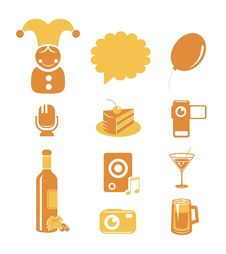 Holidays And Party Icons Stock Images