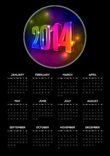 2014 Calendar Stock Photography