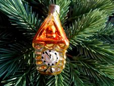 Free Christmas And New Year Decoration Gold Watch Royalty Free Stock Image - 35344446