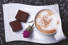 Cup Of Coffee With East Sweets Royalty Free Stock Photos