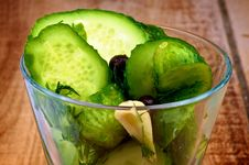 Pickled Cucumbers Stock Image