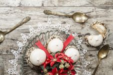 Free Christmas Decoration With Ribbons And Cookies Royalty Free Stock Photo - 35345695