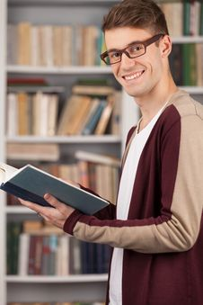 Student In Library. Royalty Free Stock Photography