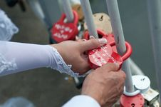 Free Padlock Wedding Stock Images - 35346984