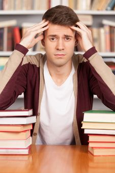 Free Tired Of Studying. Stock Photo - 35347000