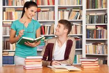 Free Studying Together. Stock Image - 35347001