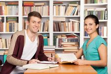 Free Studying Together. Royalty Free Stock Images - 35347039
