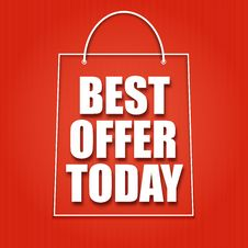 Free Shopping Bag On A Bright Background Royalty Free Stock Photography - 35348327