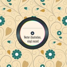 Free Vinyl Record In The Envelope, Vector Illustration. Stock Photo - 35348340