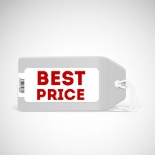Free Blank Price Tag Isolated On White Stock Photos - 35349093