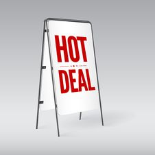 Free Pavement Sign With The Text Hot Deal Royalty Free Stock Image - 35349096